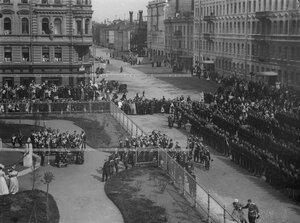 Богослужение в честь открытия памятника подвигам Саперного батальона .