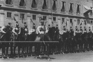 Парад полка в день празднования 200-летия полка.