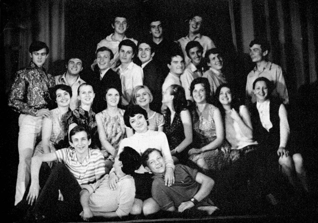 ГИТИС, курс Григория Конского и Ольги Андровской. 1972 год.