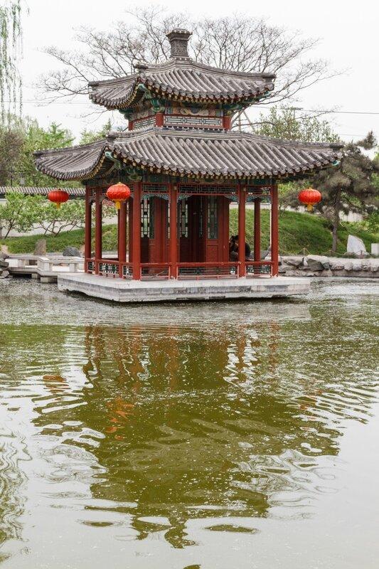 Павильон на воде, парк Дагуаньюань, Пекин