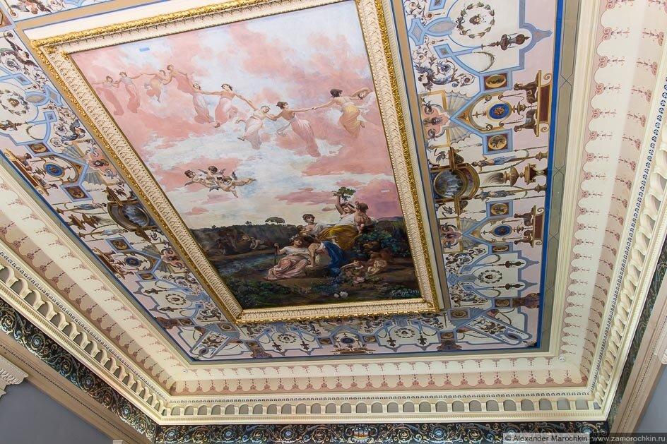Потолок во дворце Ахиллеон