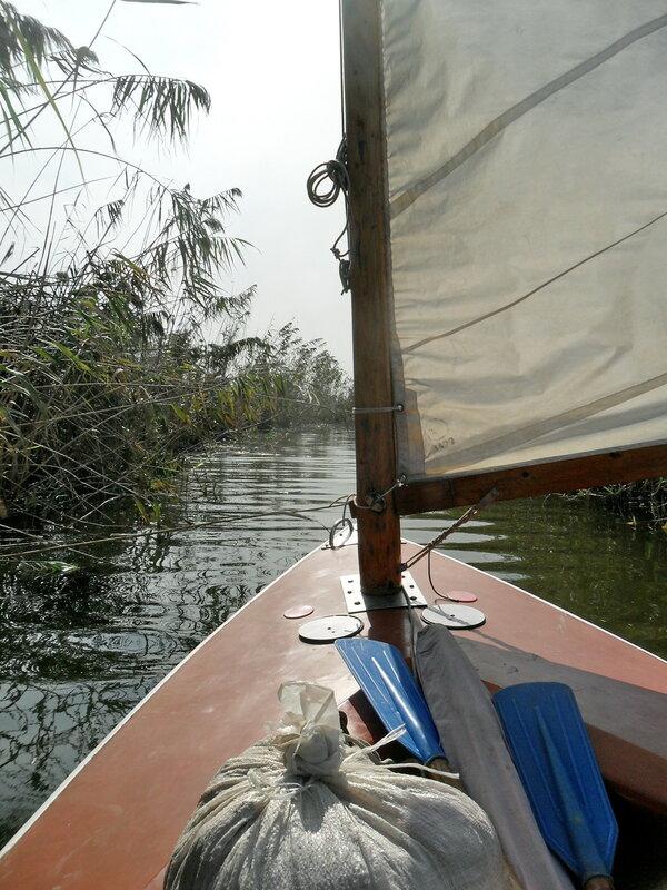 На яхте, сентябрь 2012, водной дорогой на косе