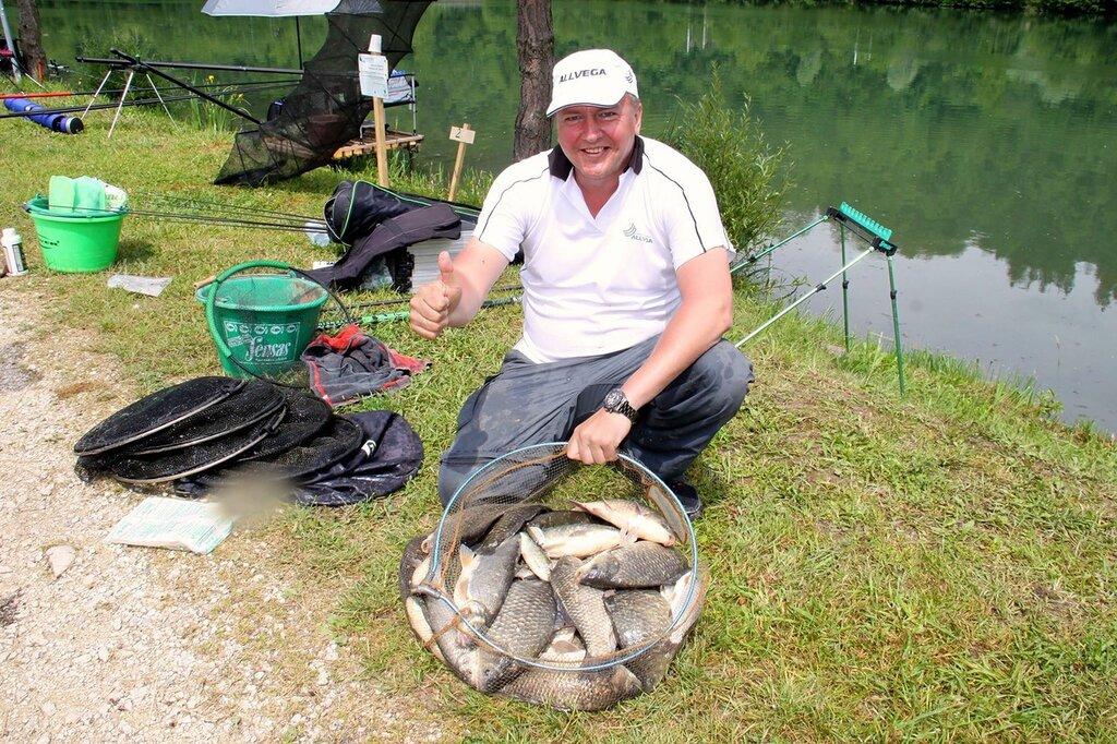Сергей Федоров, команда «Allvega» - 22 килограмма – новый рекорд тренировочных рыбалок перед началом соревнований в Словении.