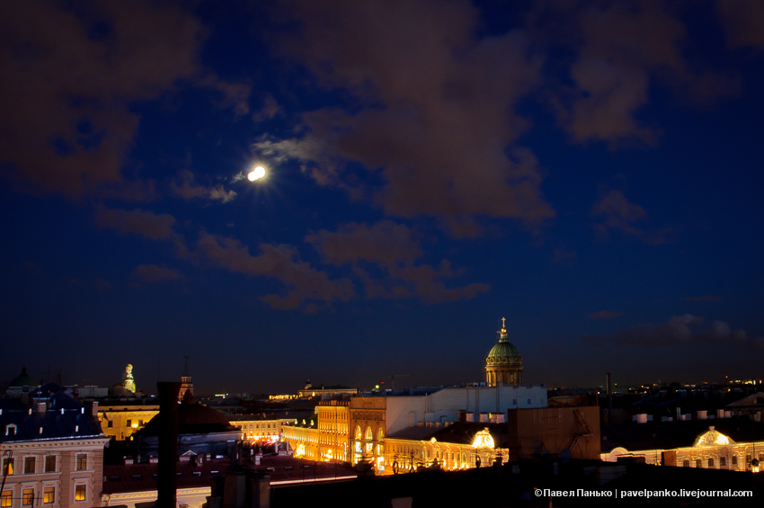 панько pavelpanko Питер Петербург город ночь крыша