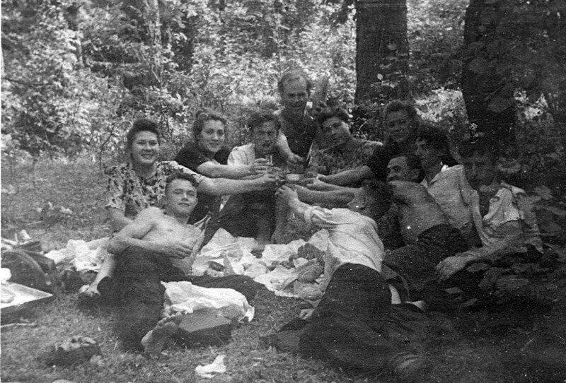 1948. На массовке комсомольского актива железнодорожного института