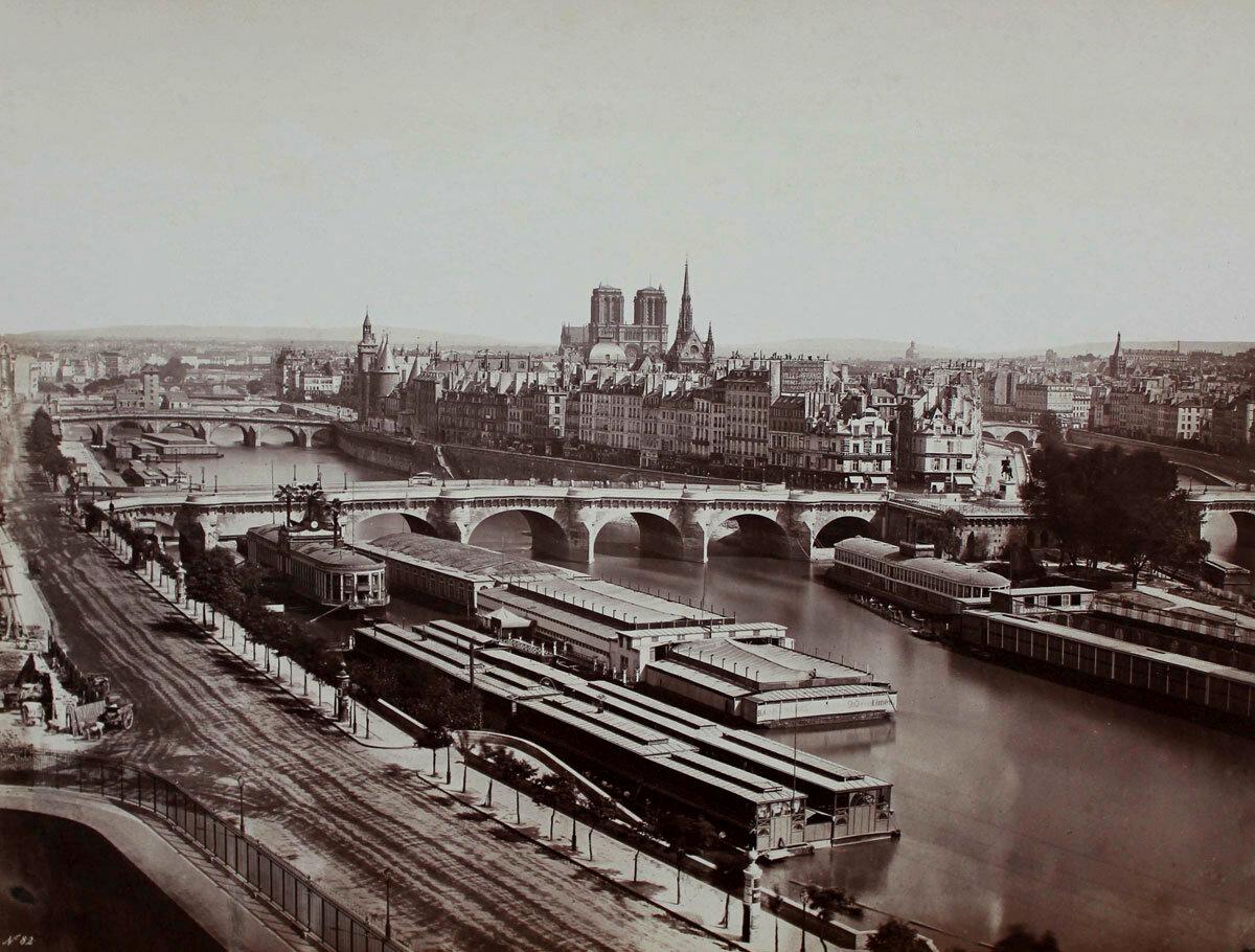 1855. Общий вид с Пон-Нёф