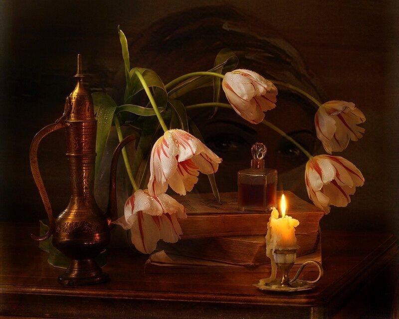 Медведева Юлия.  Тюльпаны в восточном стиле