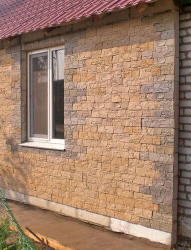 Плитка фасадная ДОЛОМИТ, оформление наружной стены