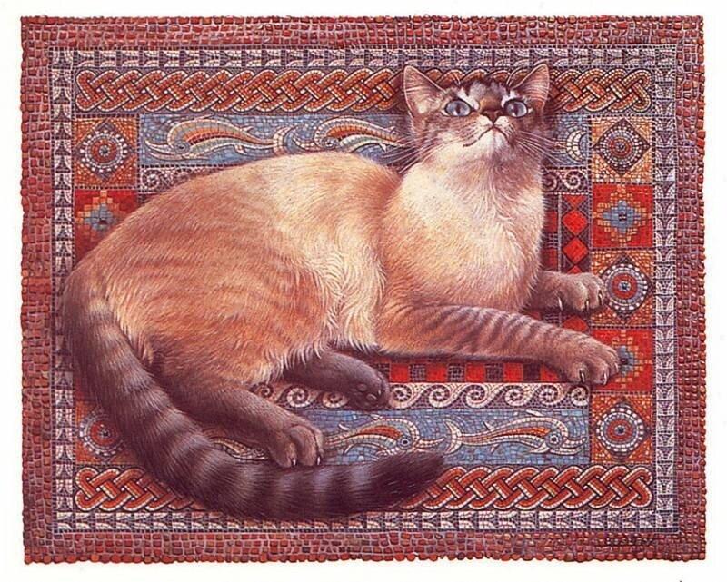 Кошки.  Художница Leslie Anne Ivory