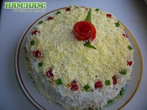 Печёночный торт.