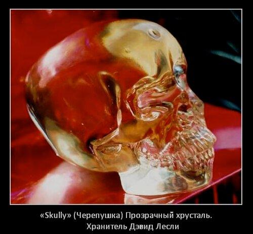 «Skully» (Черепушка) Прозрачный хрусталь. Хранитель Дэвид Лесли