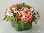 """Букет """"Ассоль"""" - цветы ручной работы из полимерной глины"""