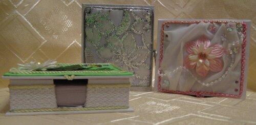 Коробочки для бумаг на офисный стол.(подарки подругам).