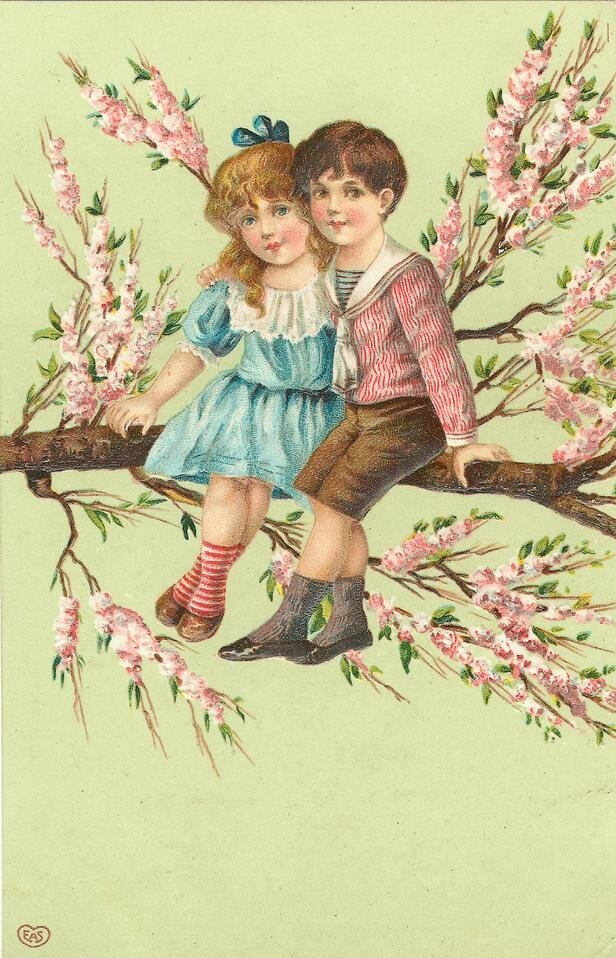 Девочке года, открытка дети цветы