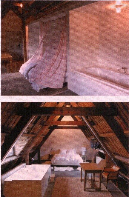 Ванна, спальня, кабинет, кровля, крыша, гостиница, кровать в шкафу, европейский комфорт