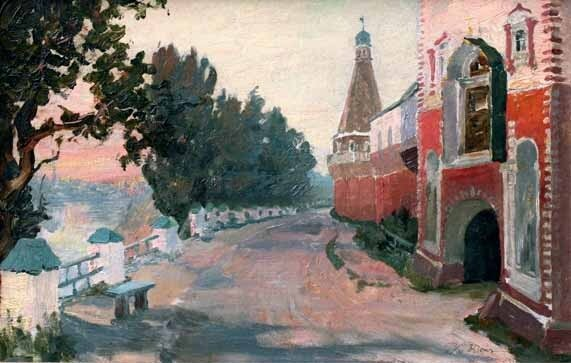 Константин Фёдорович  ЮОН (1875—1958) Симонов монастырь. 1913