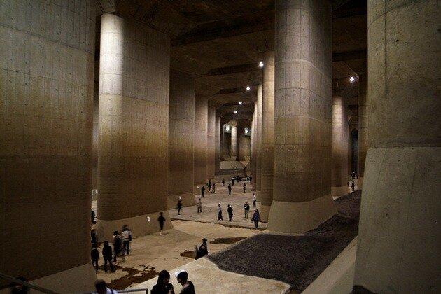 Токийский противопаводковый коллектор (Metropolitan Area Outer Underground Discharge Channel)