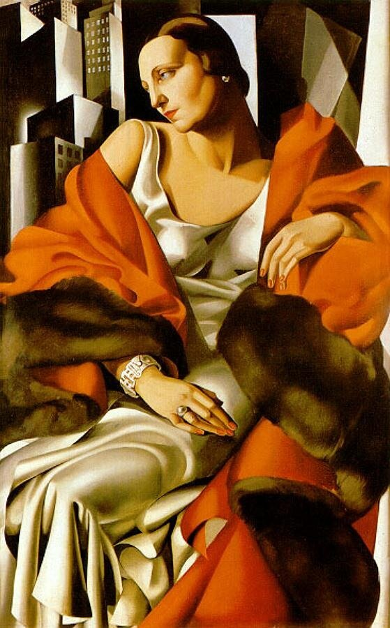 "Лемпицка, Тамара, ""Portrait of Madame Boucard"", 1931 http://veniamin1.livejournal.com/profile"