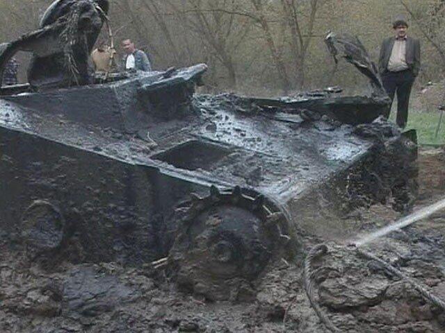 Танк Т-60, поднятый в Волгоградской области.