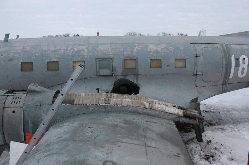 Снятые зализы выхлопных патрубков и теплообменников Ил-14Т