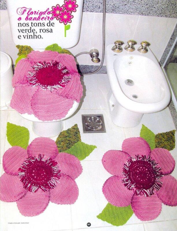 Очень красивые коврики для ванной комнаты!