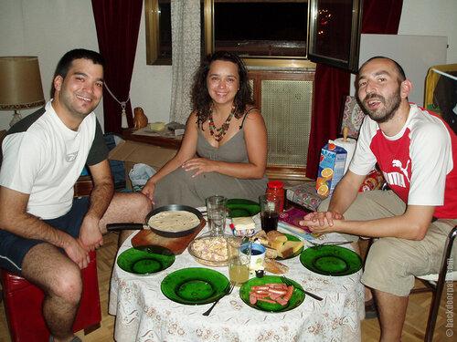 Домашний ужин у Хавьера