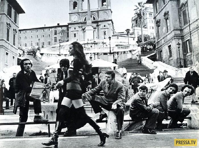 Фоторабота из серии: на улицах Рима. Автор: Джина Лоллобриджида. В Европе часто проходят фотовыставк