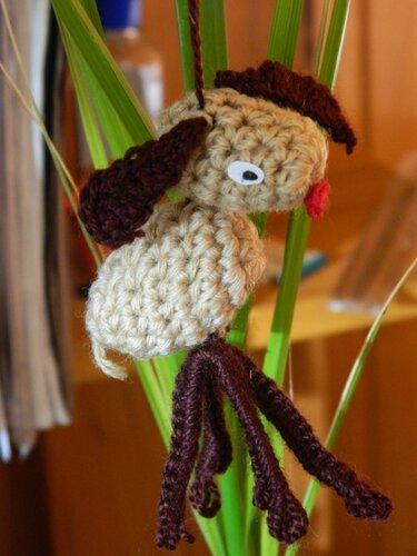 Вязаная крючком овечка