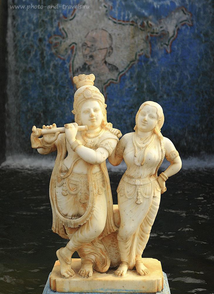 Фотография 19. Сад Вриндаван в Майсуре. Кришна, Радха, и Ганди. Интересные экскурсии в штате Карнатака в Индии. 1/250, 4, 100, 40