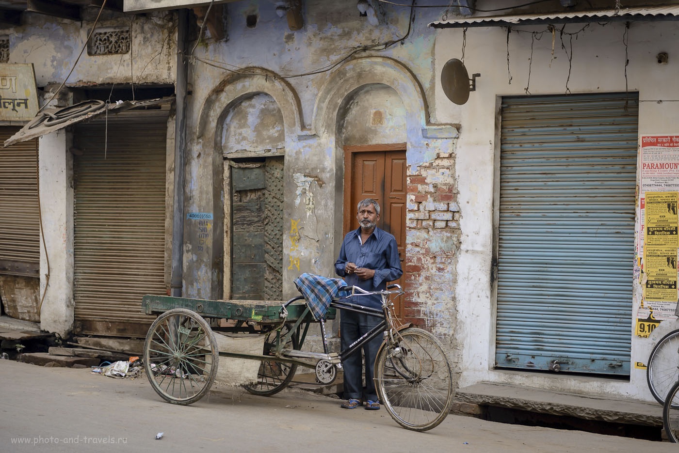 Фотография 11. Рикша в Варанаси. Поездка в Индию самостоятельно. 1/320, 2.8, 250, 70.