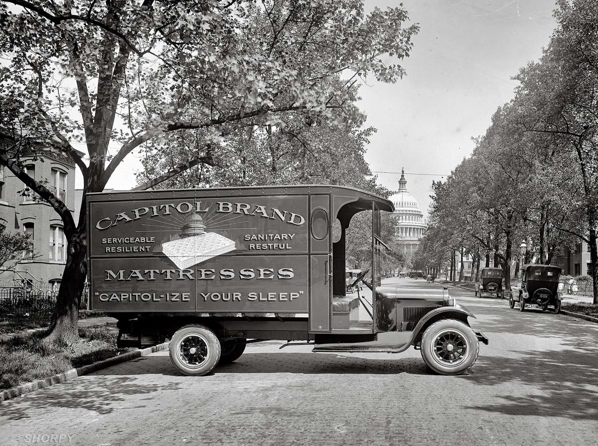 Грузовые автомобили начала 20-го века на снимках американских фотографов (18)
