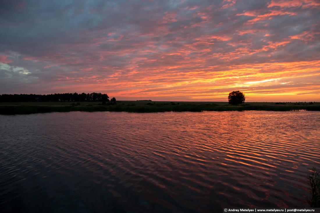 Рассвет на Соколовском пруду