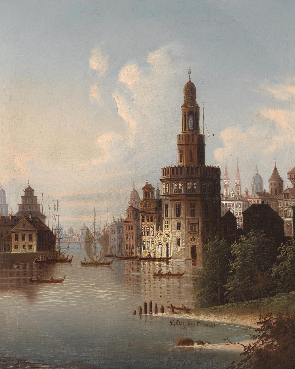 J. Wilhelm Jankowsky (1825-1870) zugeschrieben/attributed Motiv aus Sevilla