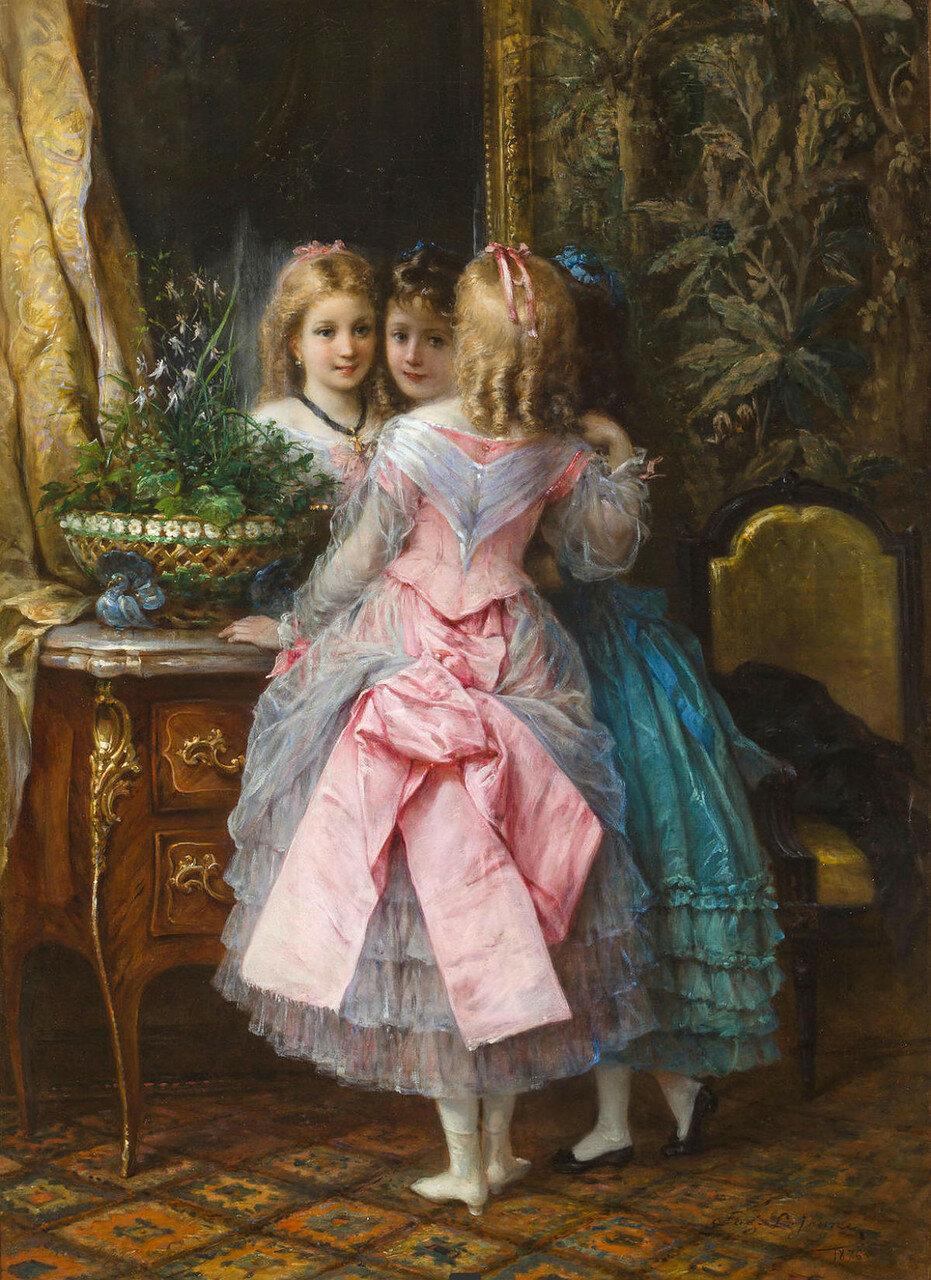 EUGEN JOSEPH LEJEUNE(French, 1818-1897) In their fanciest dresses