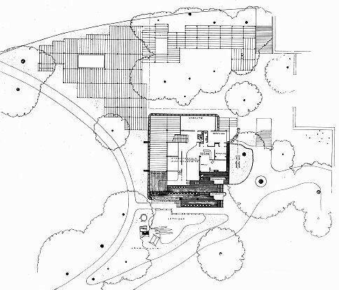 Финский павильон на Всемирной выставке 37 года в Париже, архитектор Алвар Аалто, геплан