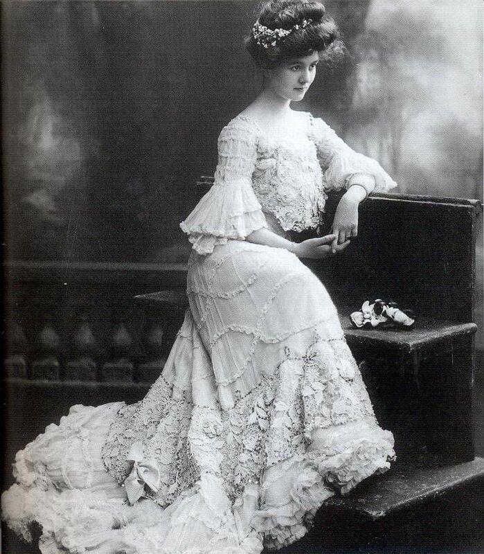 Платья начала ХХ века из ирландского кружева. История моды
