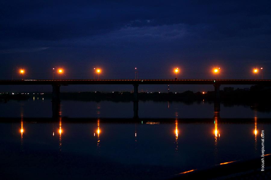 Город Коломна. Автомобильный мост на трассе автодороги М-5 (Новорязанское шоссе) через Оку