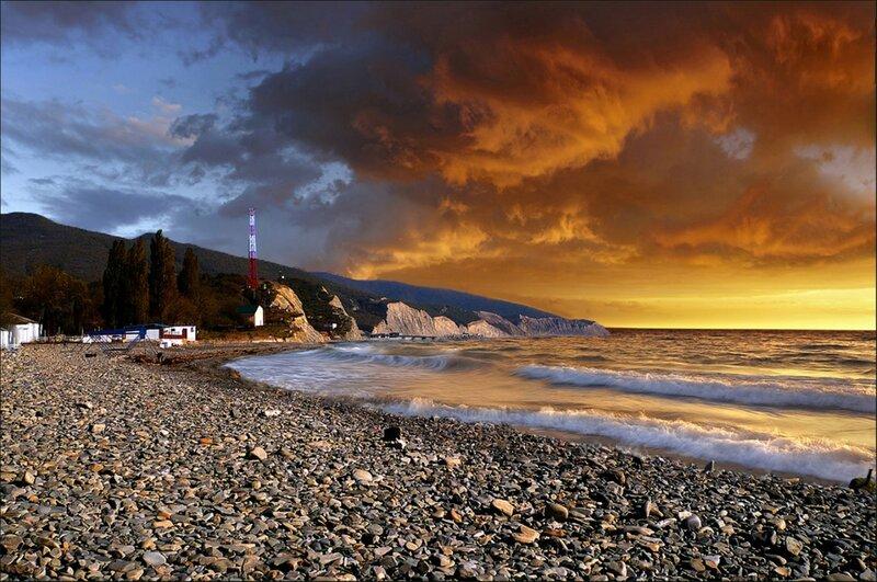 Закат на Черном море 1