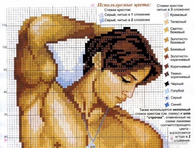Вышивка мужская тема 13