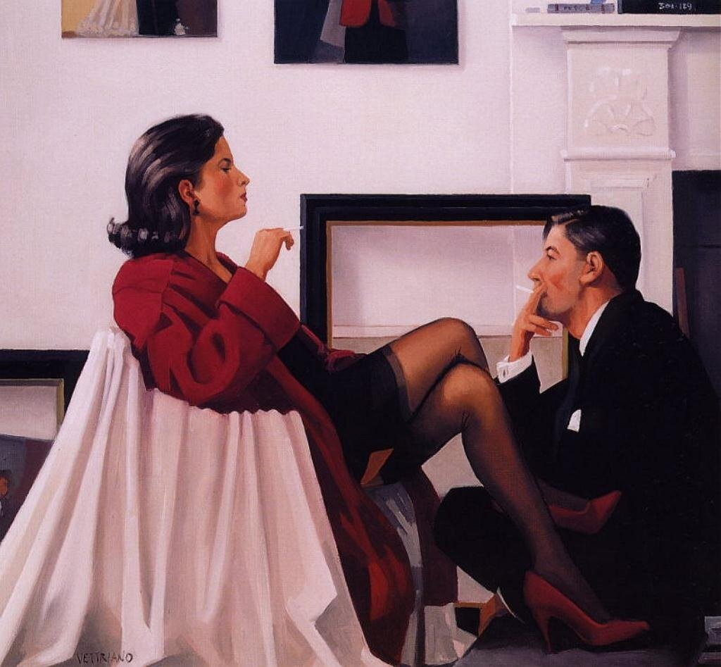 Models InTheStudio, by Jack Vettriano