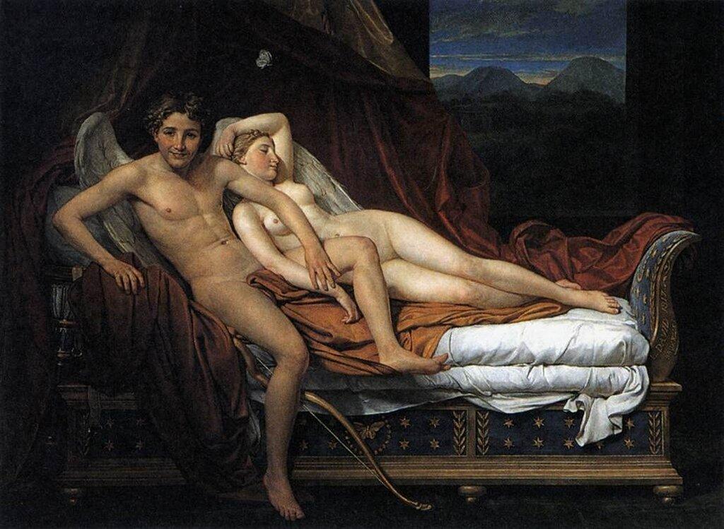 Жак Луи Давид. Купидон и Психея 1817г. Cupidon et Psyché