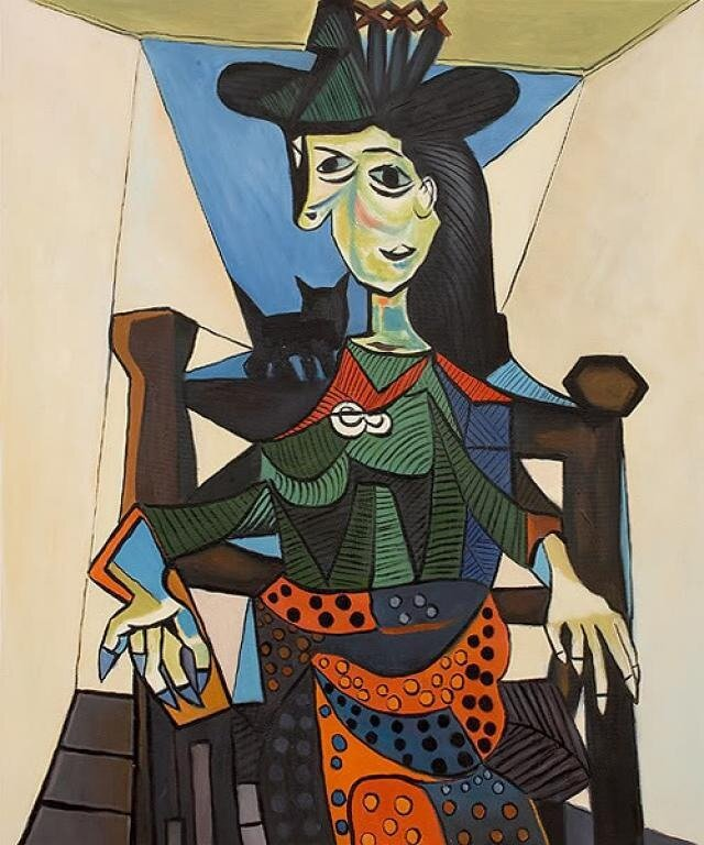 Пабло Пикассо - Портрет Доры Маар, 1941
