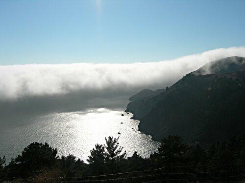Белая мгла у Сан-Франциско.