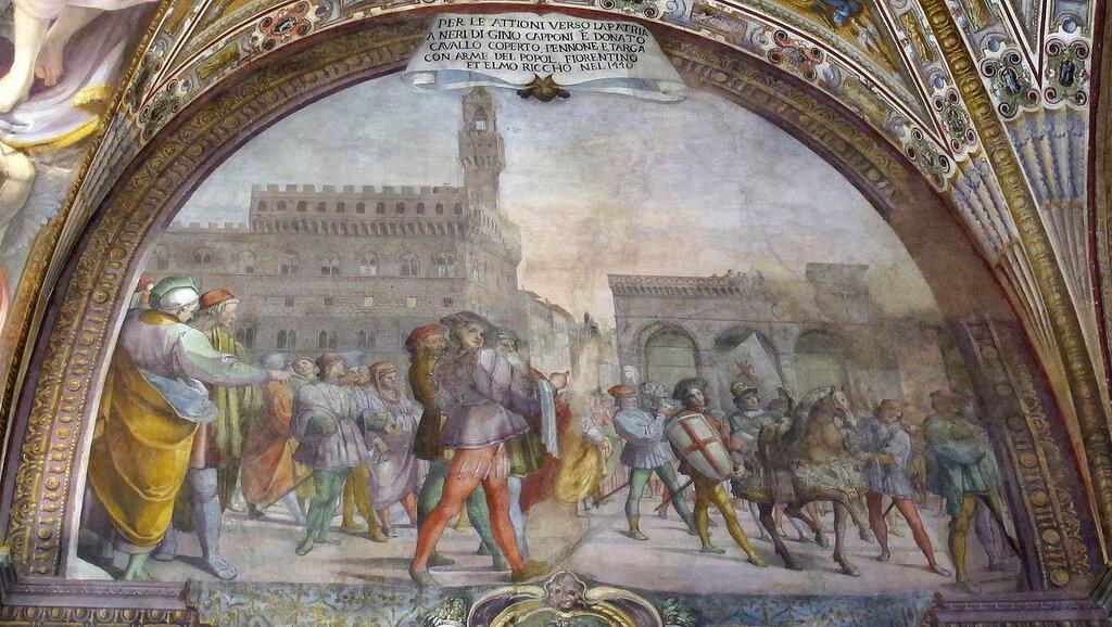 Palazzo_capponi-vettori,_salone_poccetti,_12_lunetta_con_neri_di_gino_capponi_riceve_cavallo_2.jpg