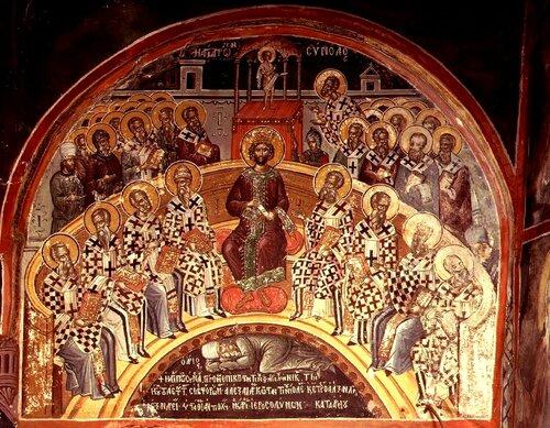 В 325 году римский император константин великий созвал в никее вселенский собор, который осудил арианство