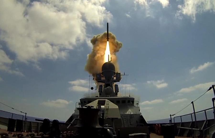 Корабли ВМС РФ нанесли очередной удар «Калибрами» восточнее Пальмиры