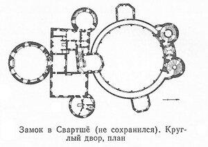 Замок в Свартше (не сохранился), план