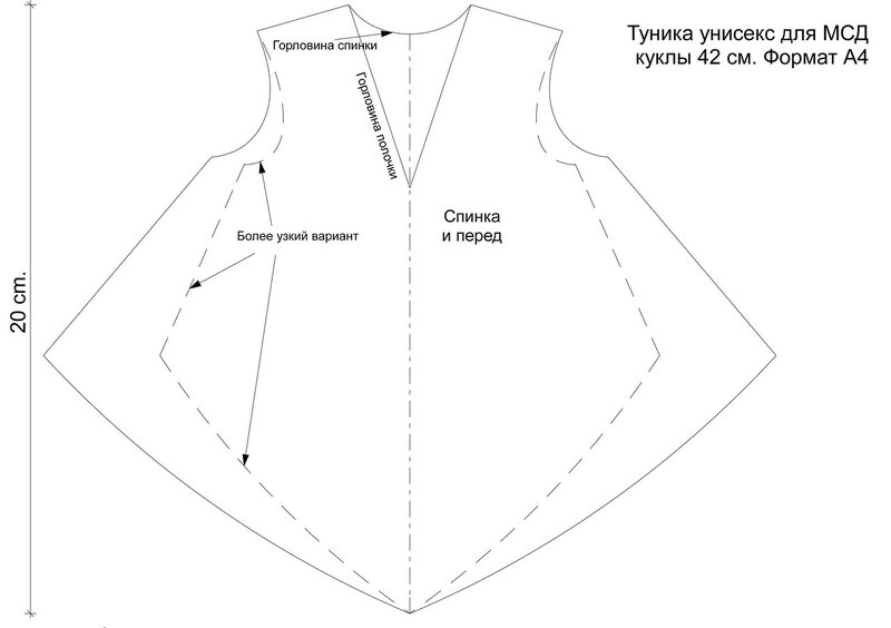 Выкройки туник для начинающих простые выкройки своими