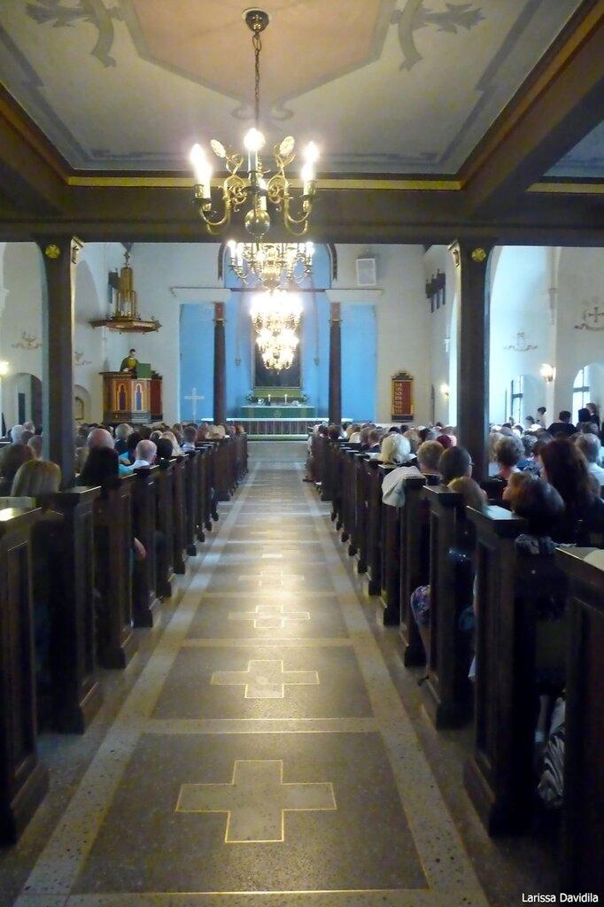 Торсжественная месса в лютеранской церкви Валкеала.