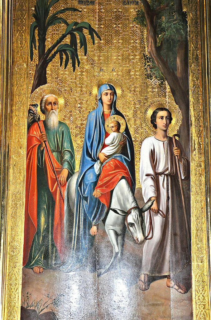 Образ святого семейства, шествующего во Египет